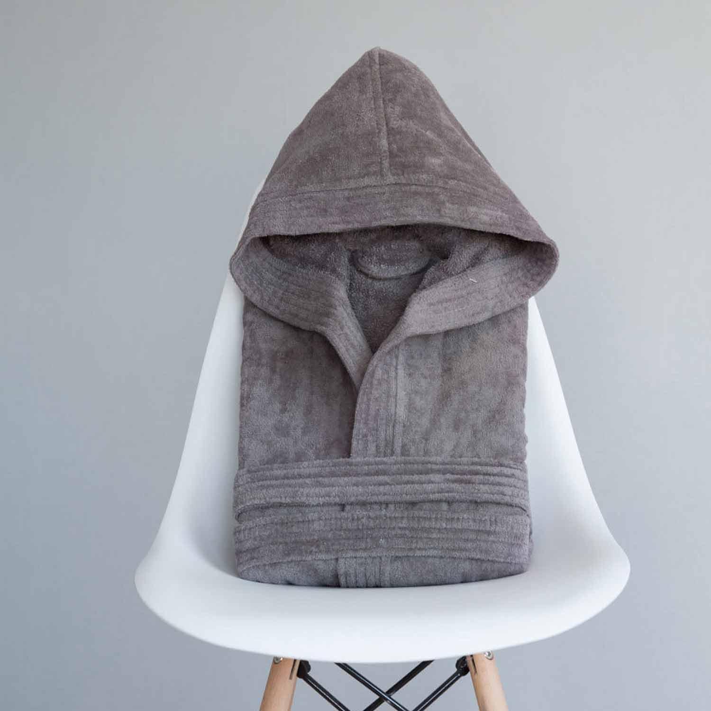 Μπουρνούζι Zen Με Κουκούλα Gray Nima XX-Large