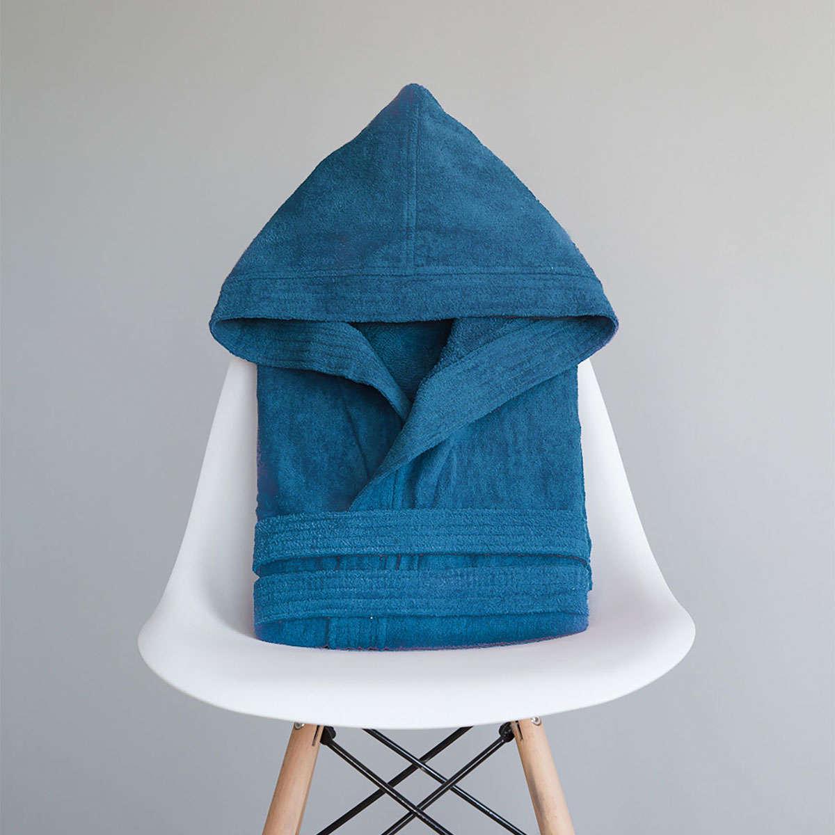 Μπουρνούζι Με Κουκούλα Zen Σε Κουτί – Ionian Blue Nima Medium M