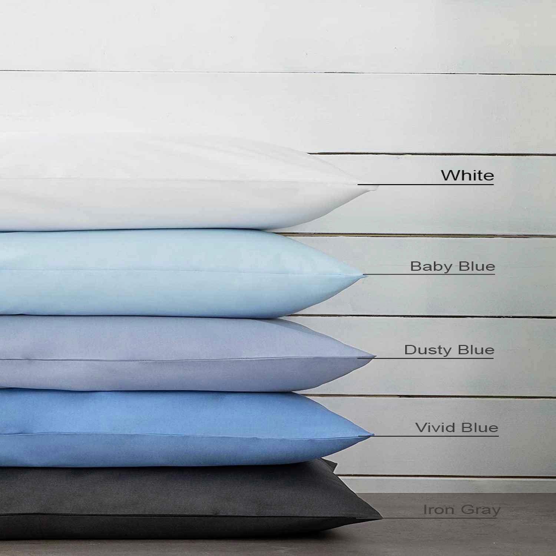 Σεντόνι Με Λάστιχο Unicolors – White Nima Υπέρδιπλo 160x200cm