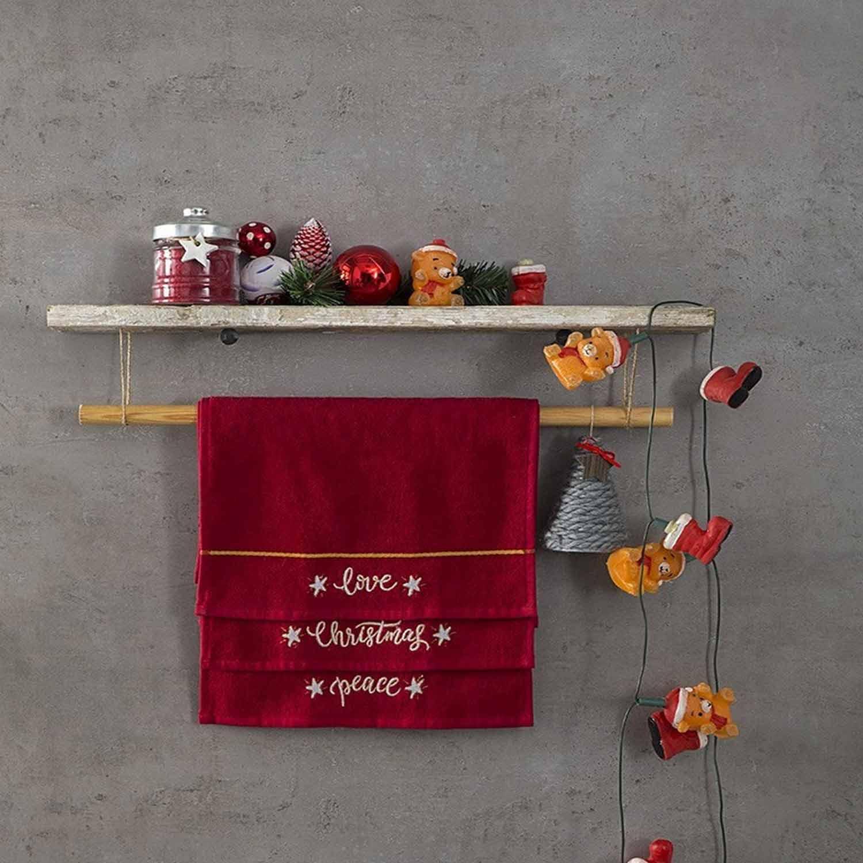 Πετσέτες Χριστουγεννιάτικες Σετ – Carols Nima Σετ Πετσέτες 30x50cm