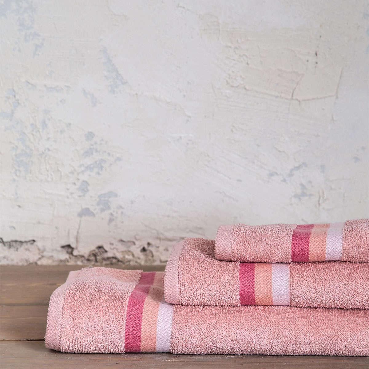 Πετσέτες Σετ 3τμχ. Avra – Strawberry Pink Nima Σετ Πετσέτες 70x140cm