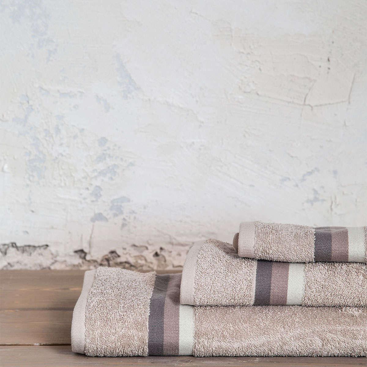 Πετσέτες Σετ 3τμχ. Avra – Sunny Beige Nima Σετ Πετσέτες 70x140cm