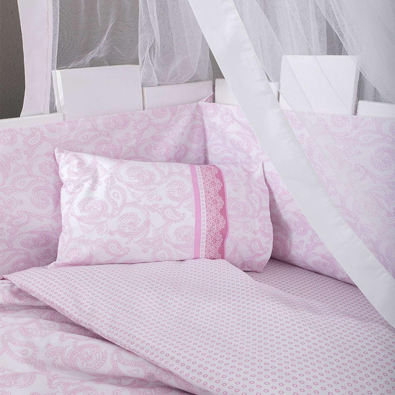 Σεντόνια Βρεφικά Σετ 3τμχ Precious Pink Nima Κούνιας 120x170cm