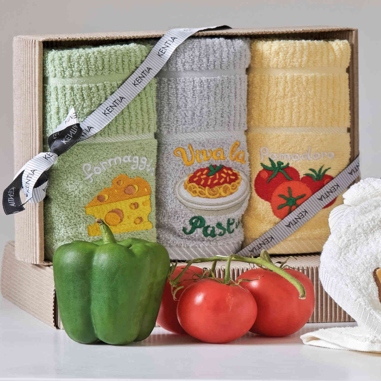 Πετσέτες Κουζίνας Σετ 3τμχ Regalo 183 Kentia 40x70cm