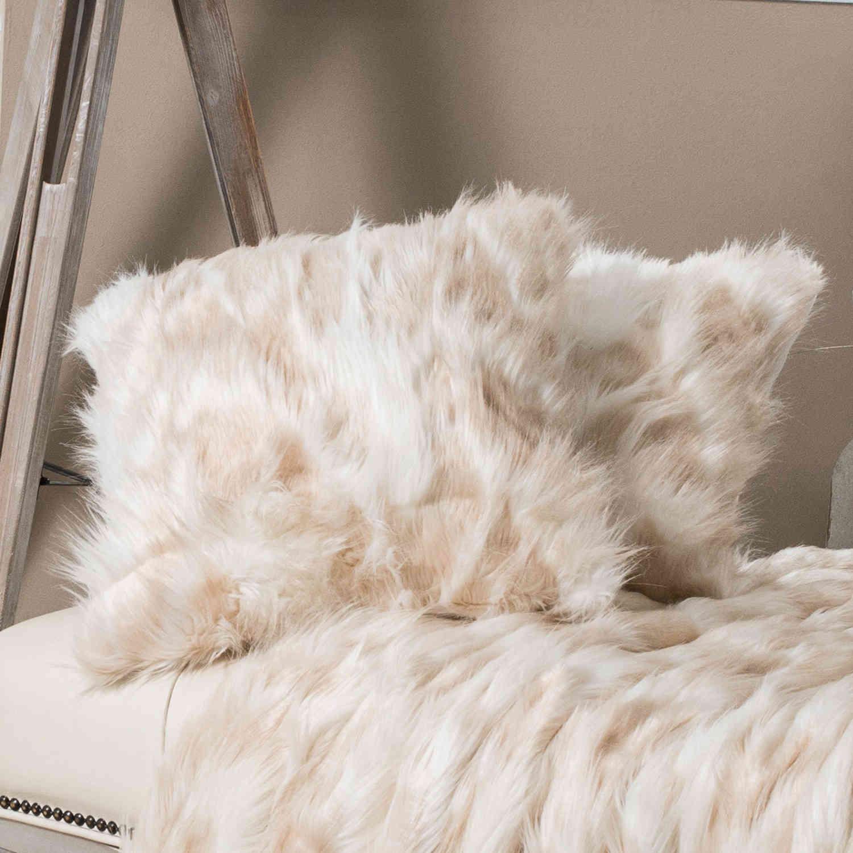 Μαξιλάρι Διακοσμητικό Γούνινο (Με Γέμιση) Pelt 04 Beige – Ecru Teoran 45X45 100% Ακρυλικό
