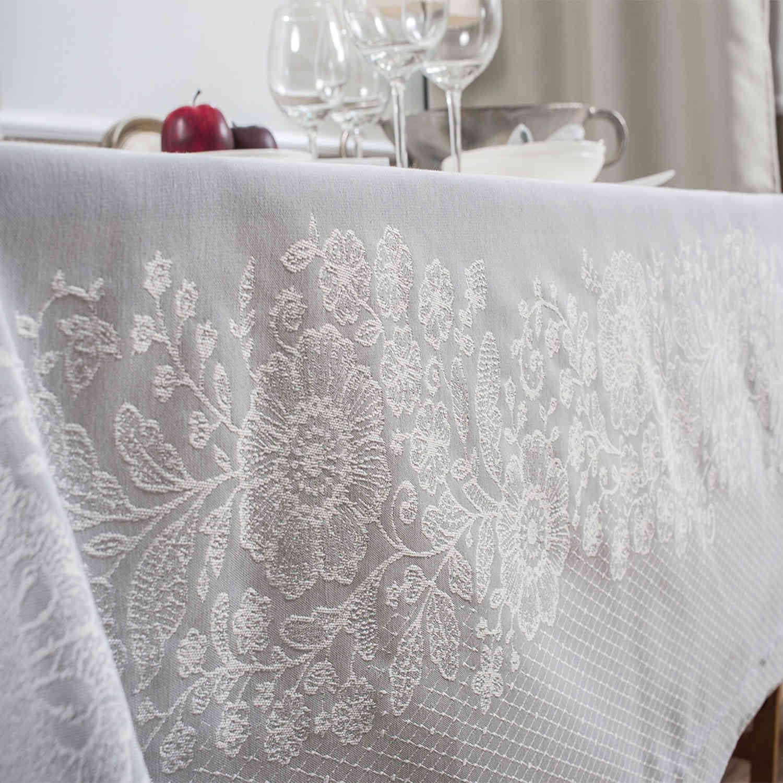 Πετσέτες Φαγητού Σετ 4τμχ Lace 03 Grey Teoran 43x43cm
