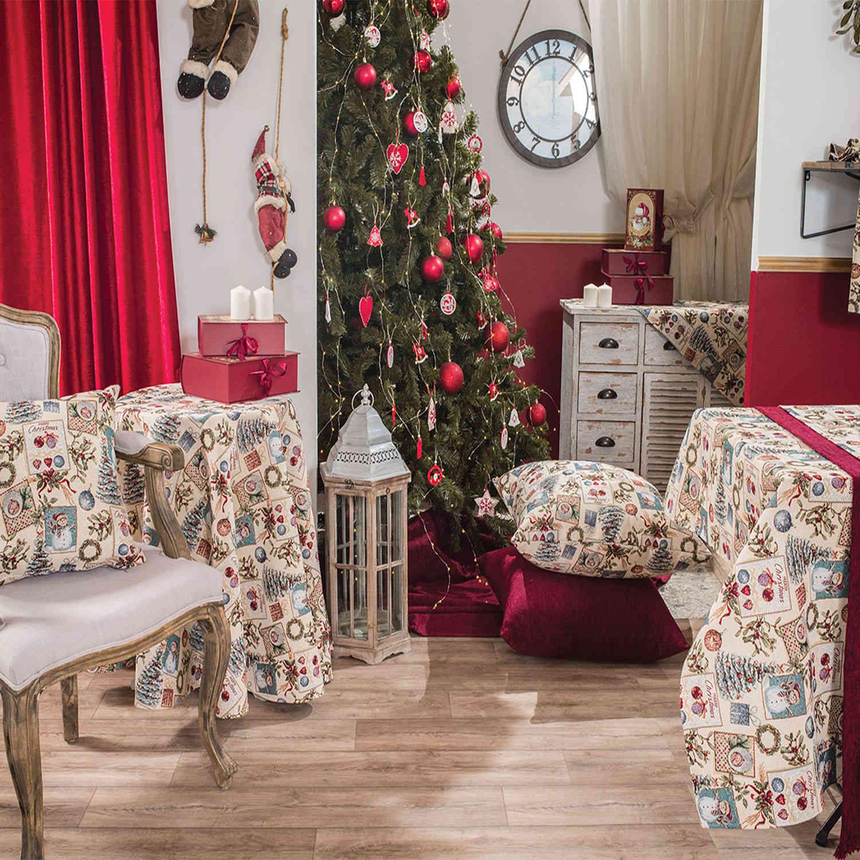 Μαξιλάρι Διακοσμητικό Δαπέδου Χριστουγεννιάτικο (Με Γέμιση) Jolly Teoran 60X60 65x65cm