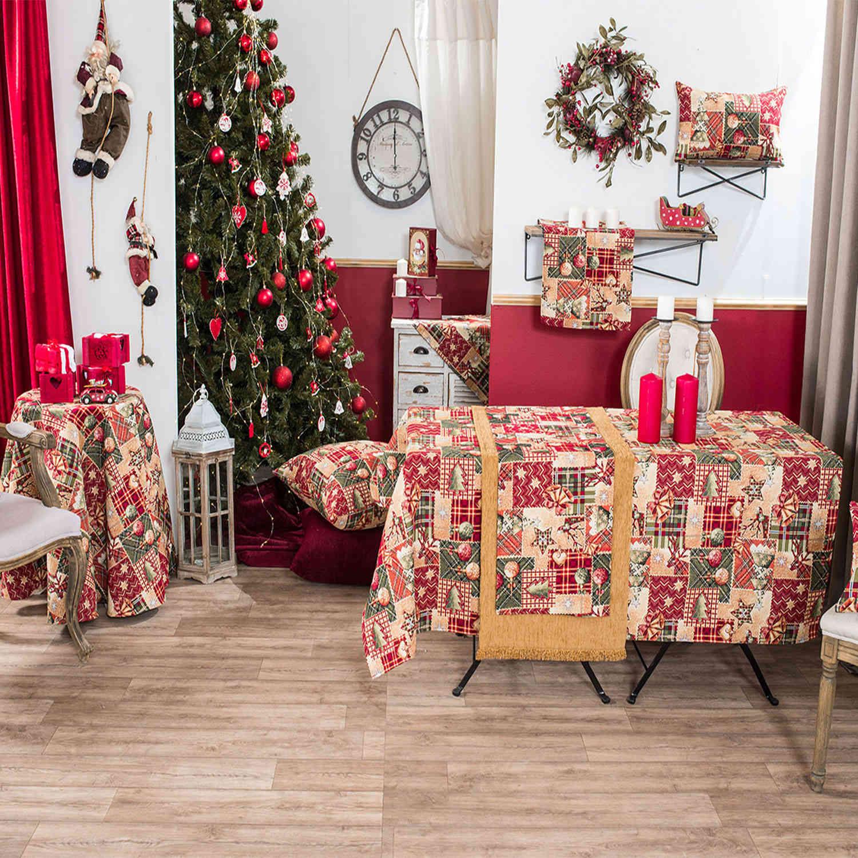 Μαξιλαροθήκη Διακοσμητική Δαπέδου Χριστουγεννιάτικη Tinsel Teoran 60X60 65x65cm