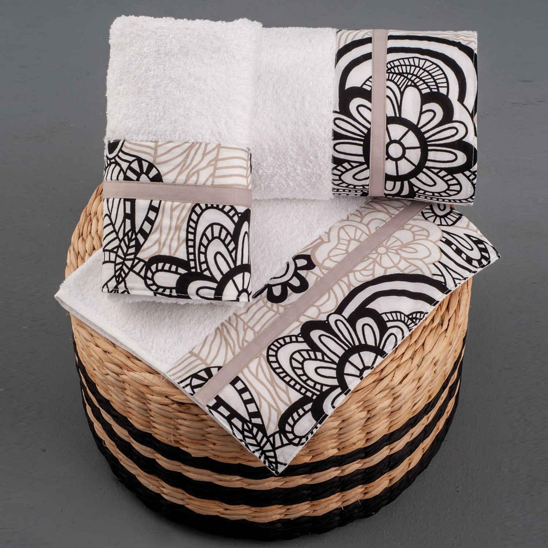 Πετσέτες Σετ 3 τμχ 256 Omega Home Σετ Πετσέτες