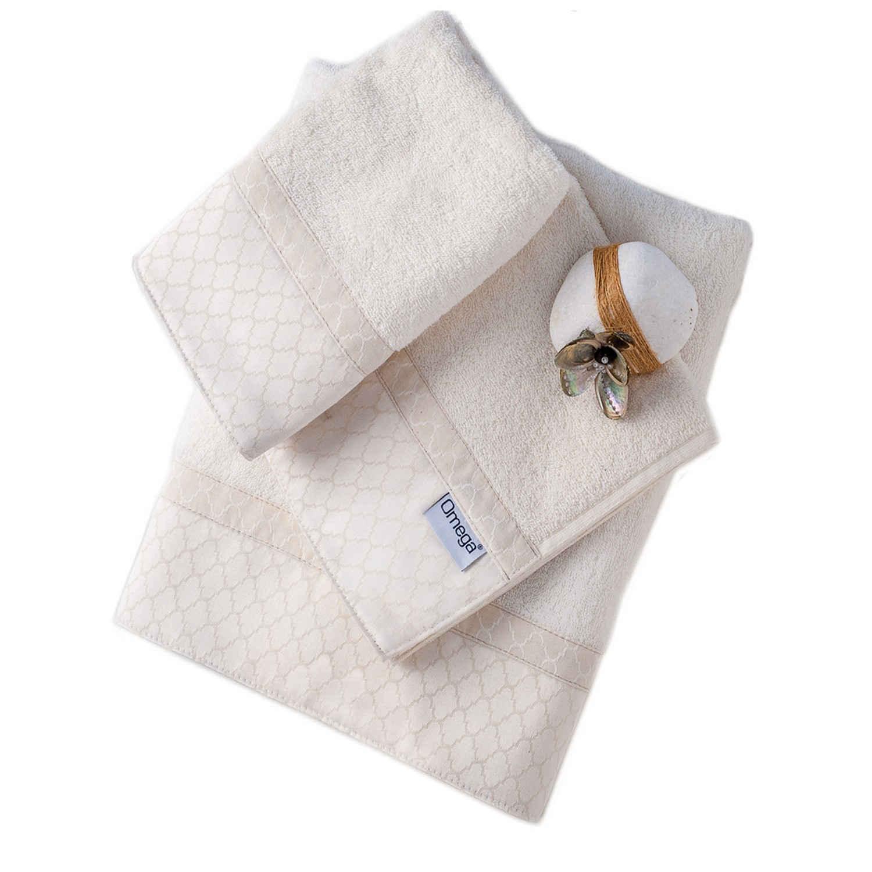 Πετσέτες Σετ 3 τμχ 103 Omega Home Σετ Πετσέτες