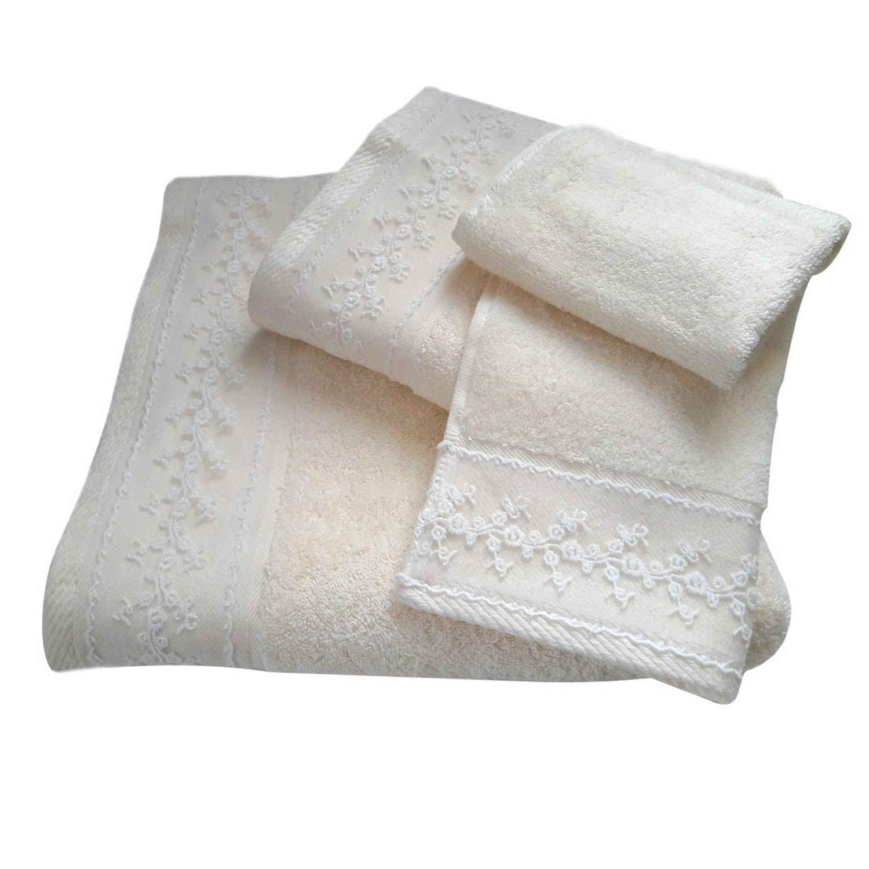 Πετσέτες Σετ 3 τμχ 162 Omega Home Σετ Πετσέτες