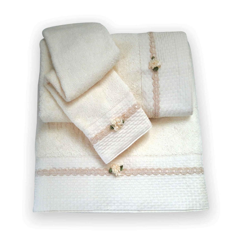 Πετσέτες Σετ 3 τμχ 168 Omega Home Σετ Πετσέτες