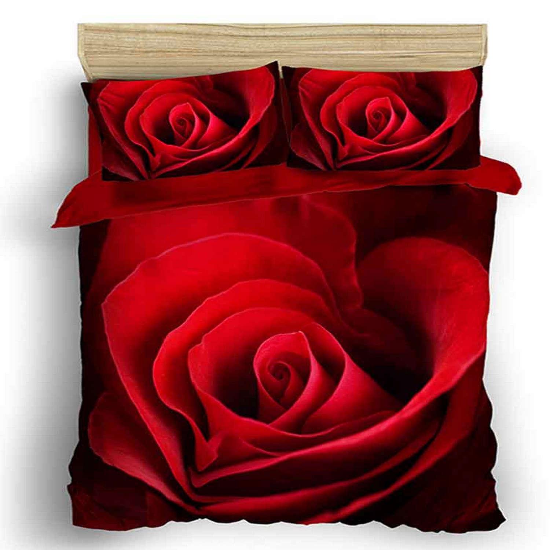 Παπλωματοθήκη Σετ Σχ. Τριαντάφυλλο Viopros Υπέρδιπλo 220x240cm