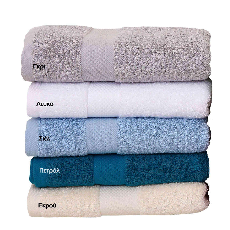 Πετσέτες Πενιέ Σετ 3τμχ Luxor Λευκό Viopros Σετ Πετσέτες
