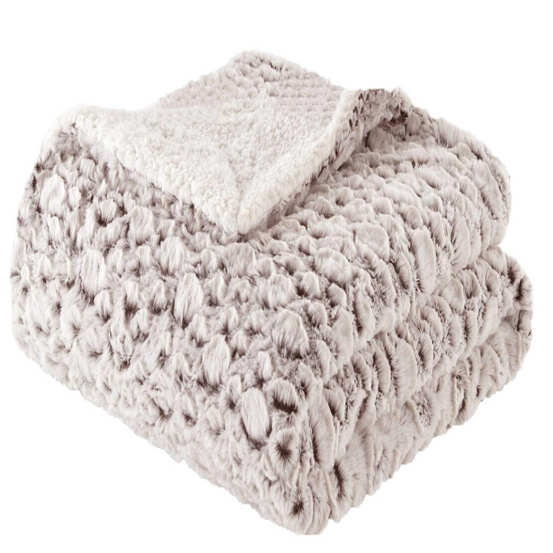 Ριχτάρι – Κουβέρτα 2 Όψεων Des. 371 Μπεζ Anna Riska Πολυθρόνα 150x170cm
