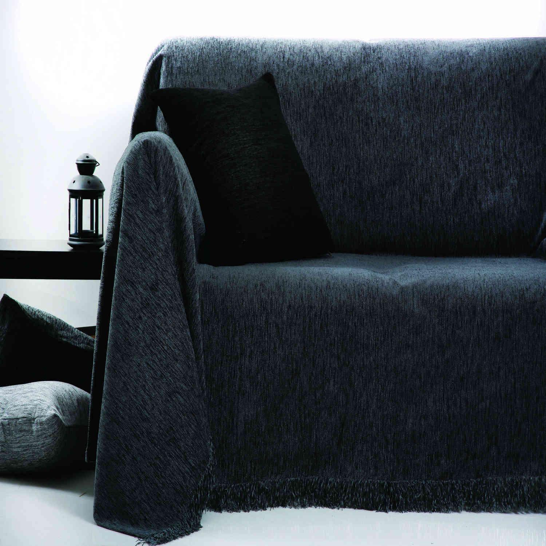 Μαξιλάρι Διακοσμητικό (Με Γέμιση) Des. 1300 Γκρι Σκούρο Anna Riska 50X50 100% Chenille