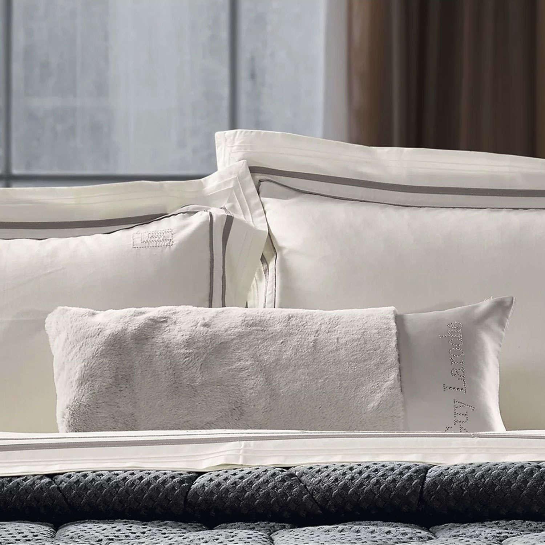 Διακοσμητική Μαξιλαροθήκη (Ζεύγος) Vison Taupe Guy Laroche 30Χ50 100% polyester