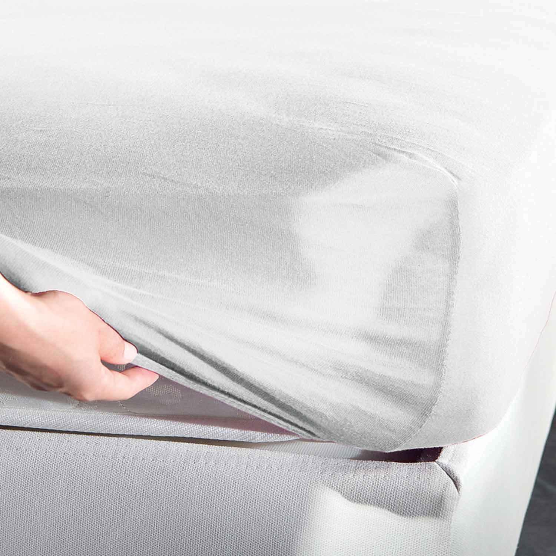 Σεντόνι Jersey Με Λάστιχο White La Luna Διπλό 160x200cm