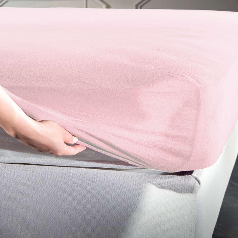 Σεντόνι Jersey Με Λάστιχο Pink La Luna Ημίδιπλο 120x200cm