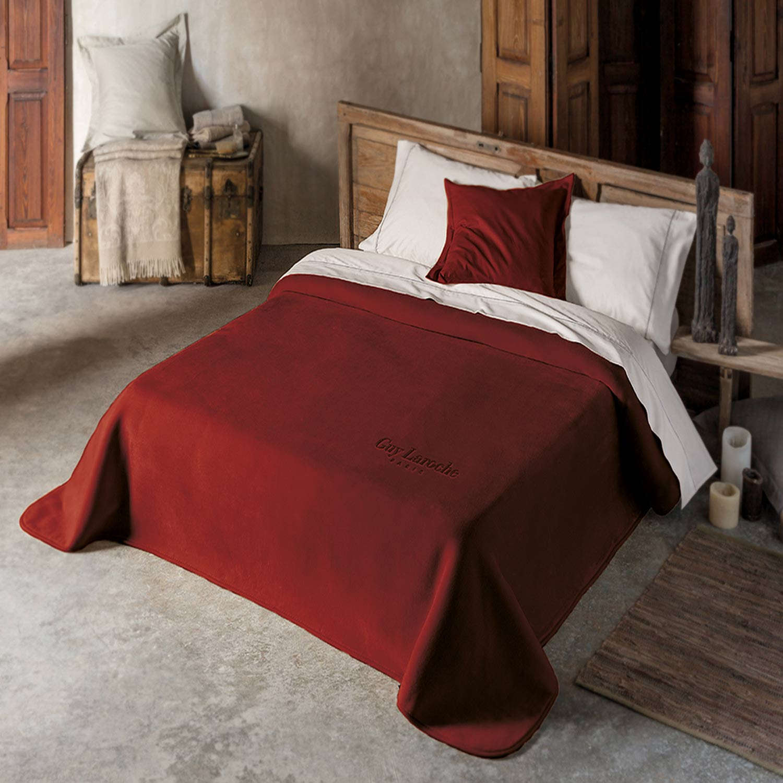 Κουβέρτα Smooth Burgundy Guy Laroche Υπέρδιπλo 220x240cm
