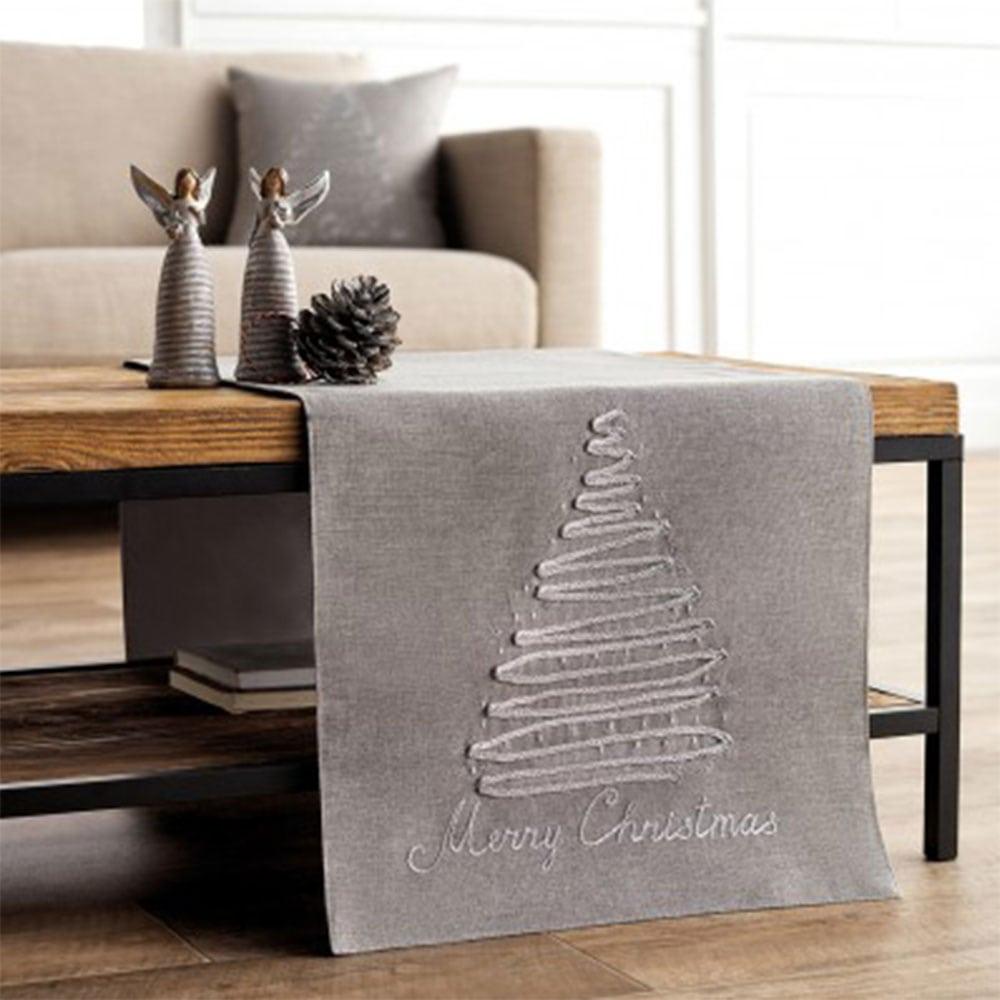 Σεμέ Χριστουγεννιάτικο 953B Grey Gofis Home 40Χ150