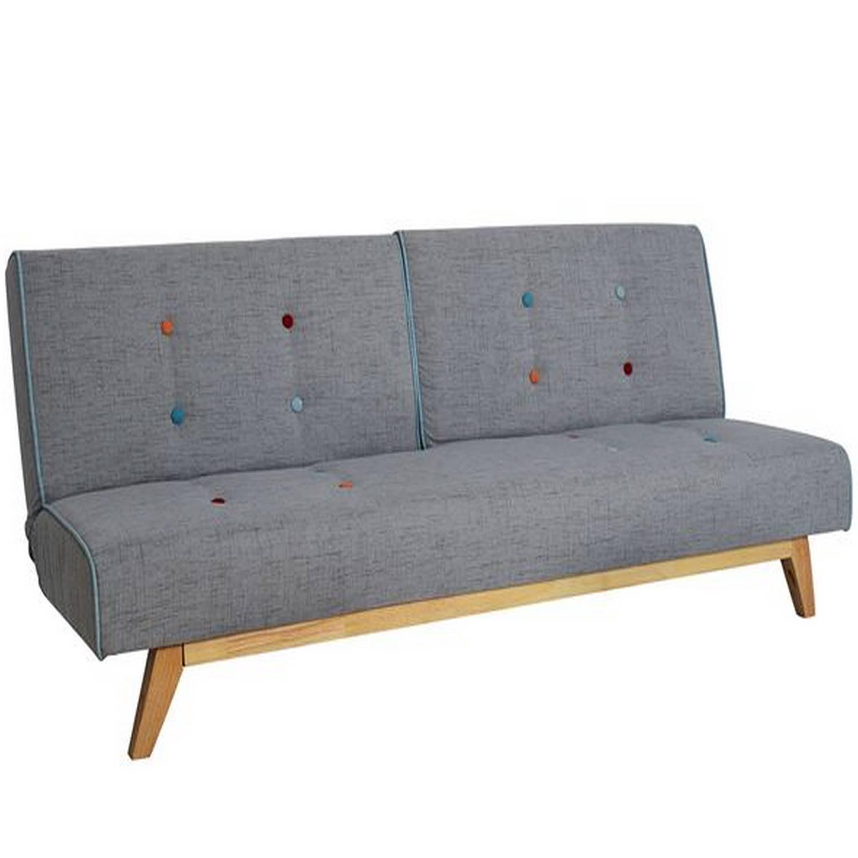 Καναπές Κρεβάτι Τριθέσιος City HM3012 Γκρι