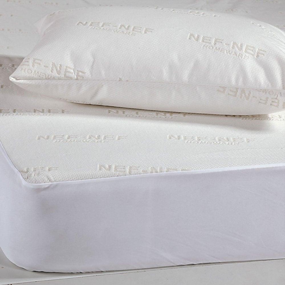 Μαξιλάρι Ύπνου Με Θήκη 53x73cm White Πούπουλο 1100gr 52X72