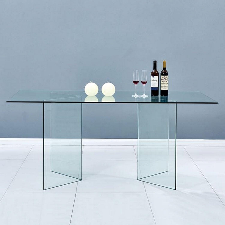 Τραπέζι Τραπεζαρίας Γυάλινο HM8299