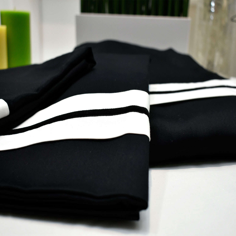 Σεντόνια Σετ 4Τμχ. Napoli Black Margolia King Size 240x270cm