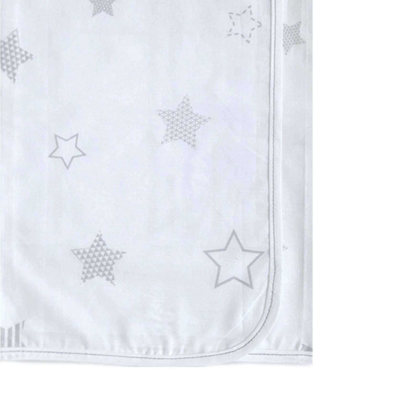 Πάνα Βρεφική Χασέ Des. 176 White – Grey Baby Oliver 80x80cm