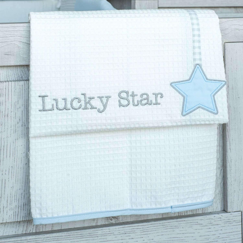 Κουβέρτα Βρεφική Πικέ Αγκαλιάς Des. 309 Lucky Star Blue Baby Oliver Αγκαλιάς 80x100cm