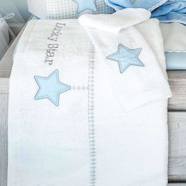 Πετσέτες Σετ 2τμχ Des. 309 Lucky Star Blue Baby Oliver Σετ Πετσέτες