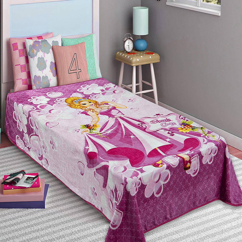 Κουβέρτα Παιδική Βελουτέ Princess Adam Home Μονό 160x220cm
