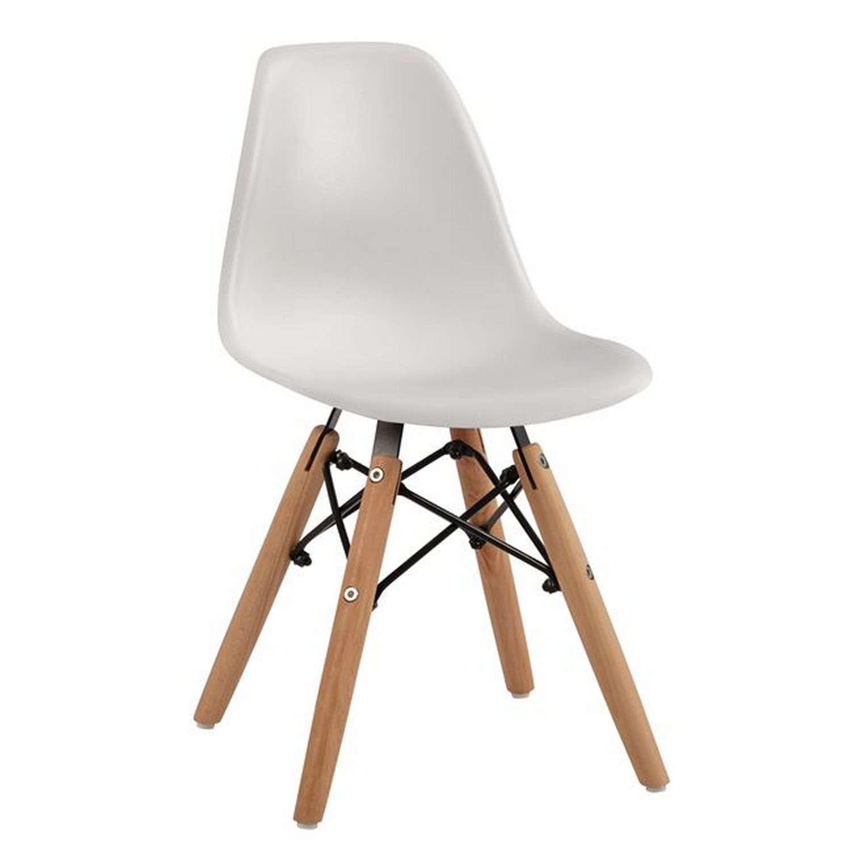 Καρέκλα Παιδική Με Ξύλινα Πόδια Twist Kid HM8453.01 White