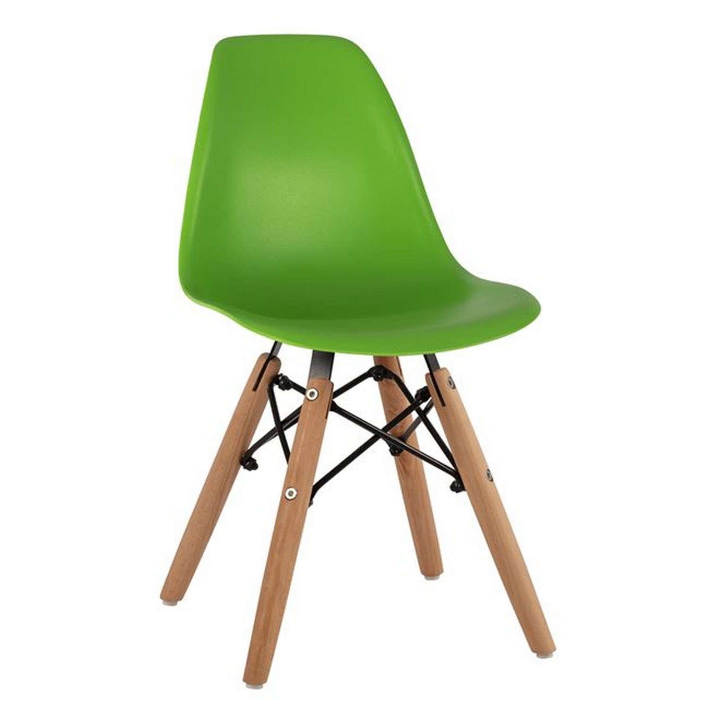 Καρέκλα Παιδική Με Ξύλινα Πόδια Twist Kid HM8453.03 Green