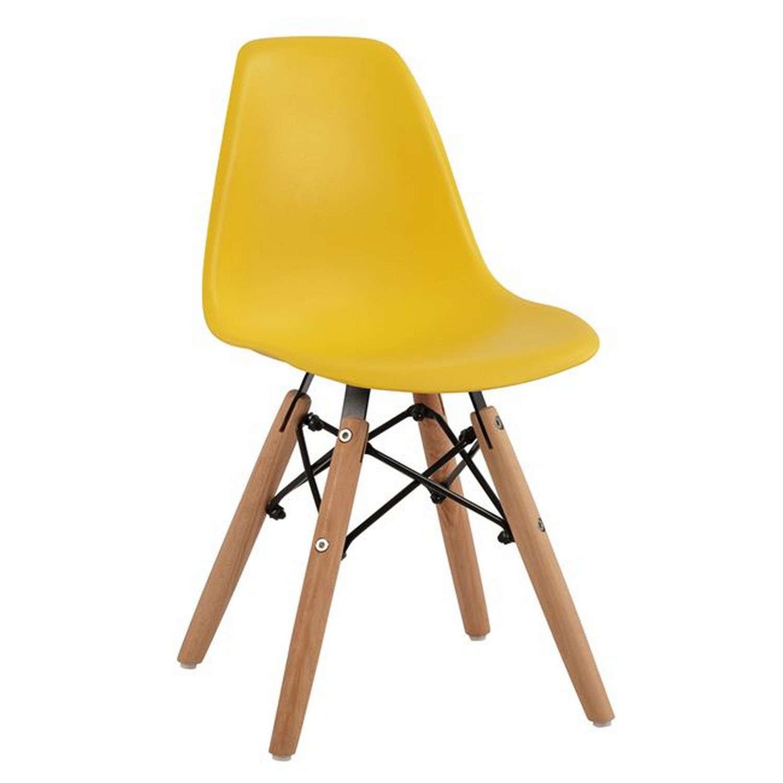 Καρέκλα Παιδική Με Ξύλινα Πόδια Twist Kid HM8453.04 Yellow