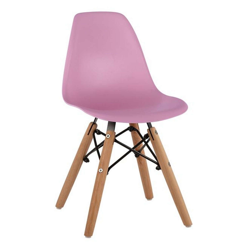 Καρέκλα Παιδική Με Ξύλινα Πόδια Twist Kid HM8453.05 Pink