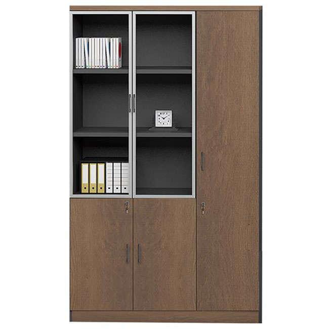 Ντουλάπα – Βιβλιοθήκη Proline ΕΟ967,R Καρυδί-Μαύρο
