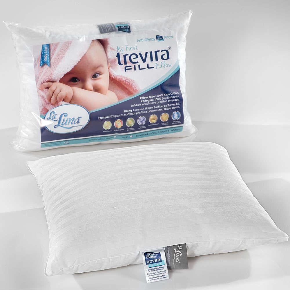 Μαξιλάρι Ύπνου Βρεφικό My First Trevira Pillow White La Luna