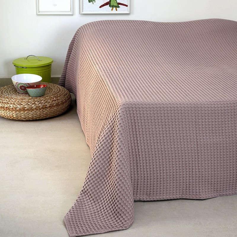 Κουβέρτα Πικέ Patmos 20 Βάφλα Ash Melinen Υπέρδιπλo 230x240cm