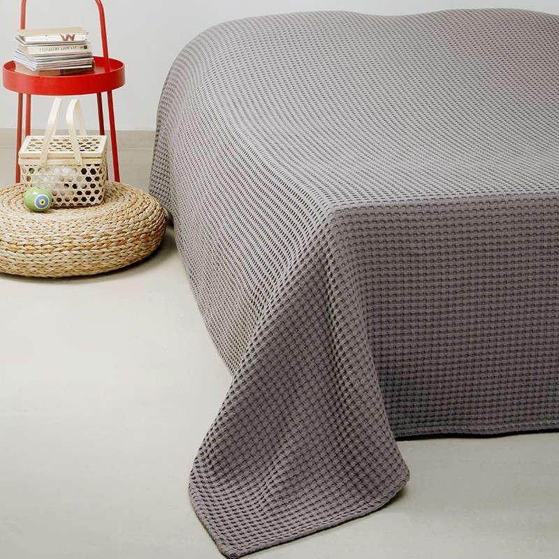 Κουβέρτα Πικέ Patmos 20 Βάφλα D. Grey Melinen Υπέρδιπλo 230x240cm