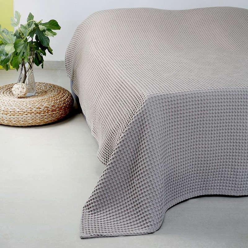 Κουβέρτα Πικέ Patmos 20 Βάφλα L.Grey Melinen King Size 240x260cm