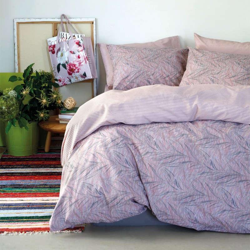 Μαξιλαροθήκες Ζεύγος Πανωσέντονου Ultra Line Aquarella Lilac-Pink Melinen 50Χ70