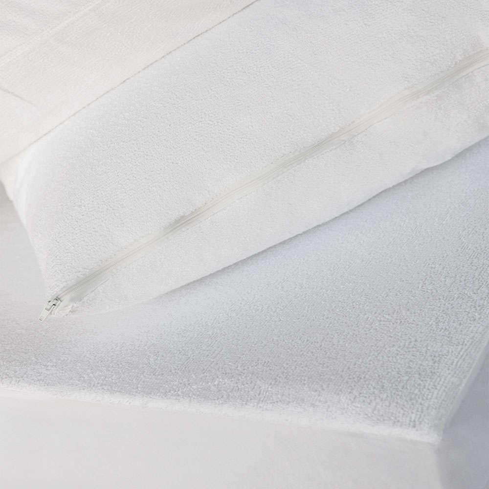 Μαξιλαροθήκη Αδιάβροχη Πετσετέ White Melinen 50Χ70