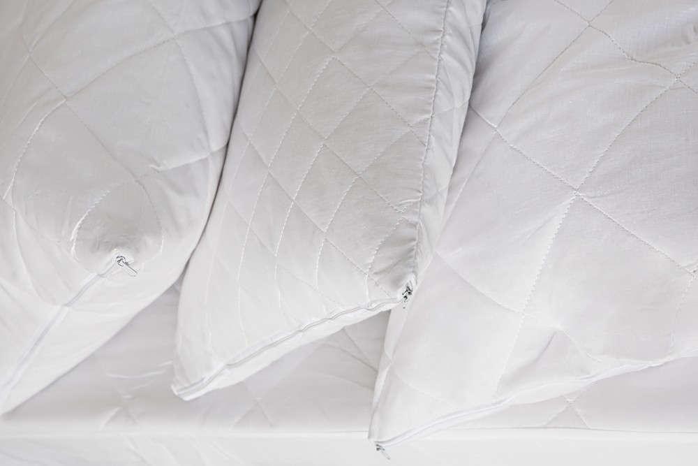 Μαξιλαροθήκη Καπιτονέ White Melinen 50Χ70