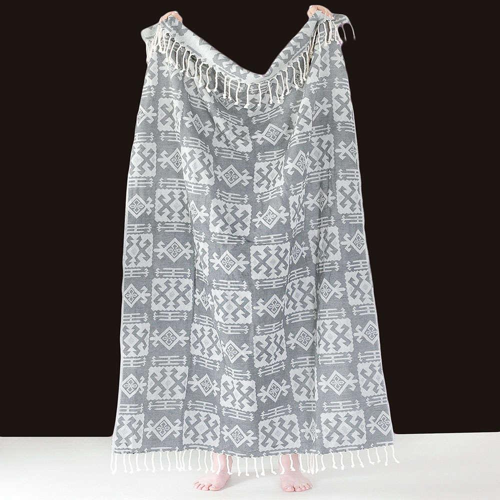 Πετσέτα Θαλάσσης – Παρεό Odel Grey Grey Melinen Θαλάσσης 95x190cm