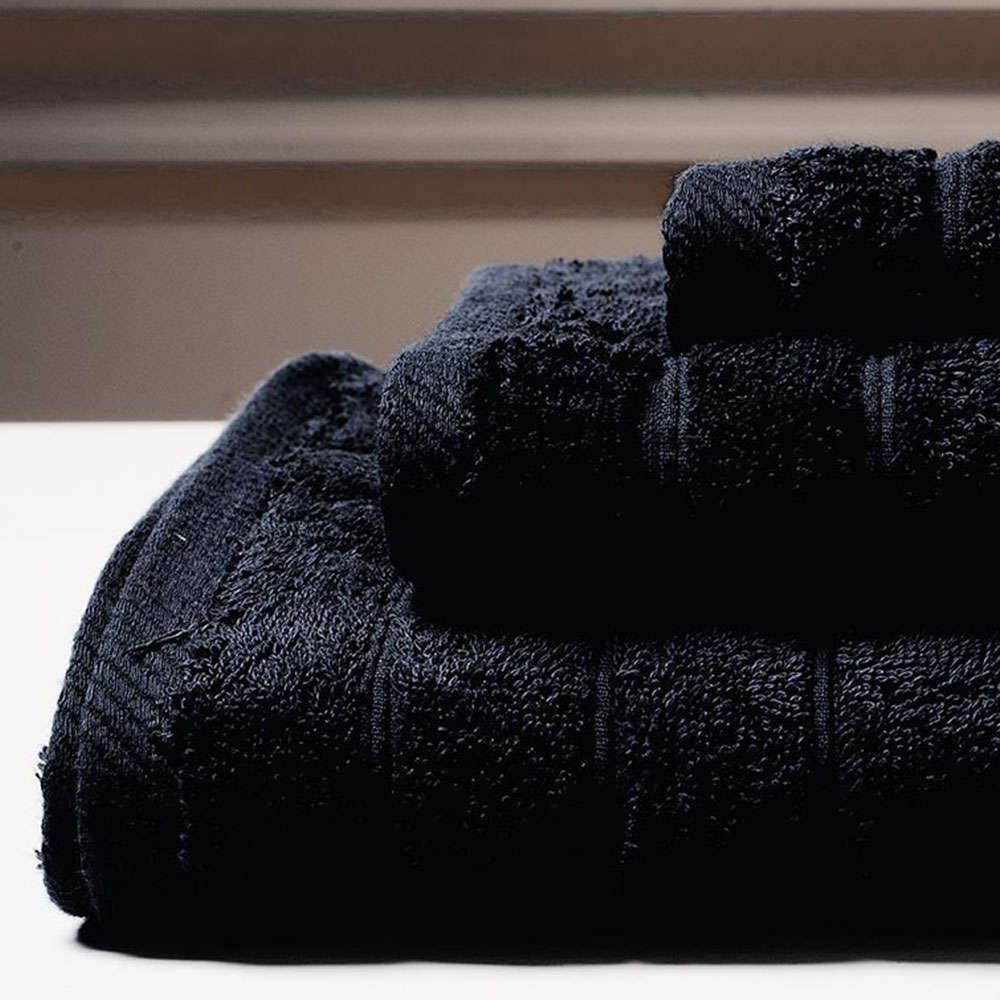 Πετσέτα Colours Black Melinen Προσώπου 50x90cm