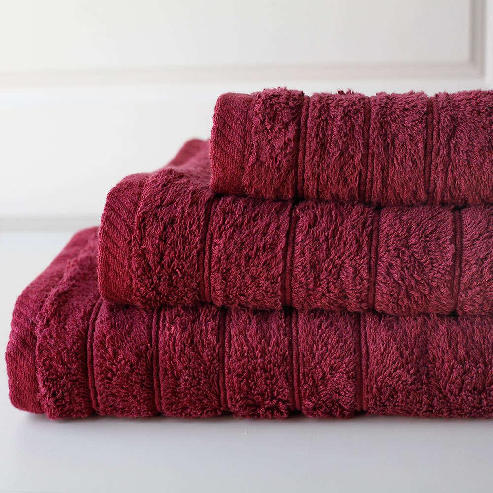 Πετσέτα Colours Bordeaux Melinen Προσώπου 50x90cm
