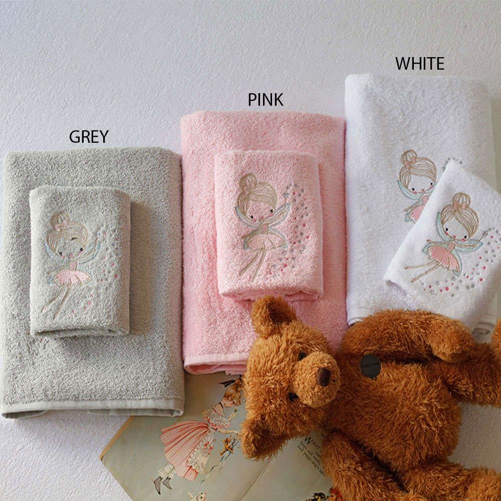 Πετσέτες Σετ 2Τμχ Παιδικές Σε Κουτί Fairy White Melinen Σετ Πετσέτες 70x140cm