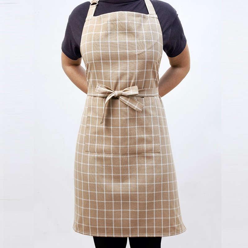 Ποδιά Κουζίνας Master Small Check Beige Melinen 60x76cm
